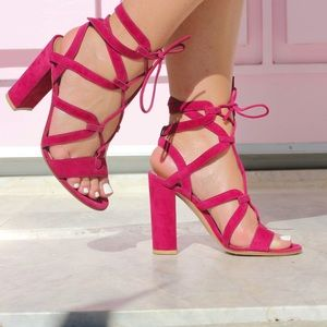 Gianvito Rossi Shoes - Gianvito Rossi Pink Gladiator Heels